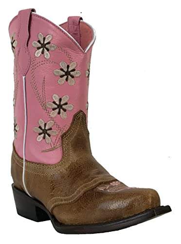 1ca01589fd0 Amazon.com | Kid's Girls Genuine Leather Cowboy Western Rodeo Boots ...