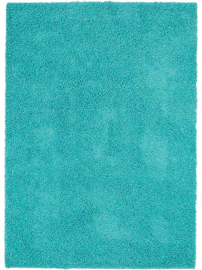 Benuta Hochflorteppich Swirls Shaggy Langflor Türkis 160x230 cm Kunstfaser schadstofffrei