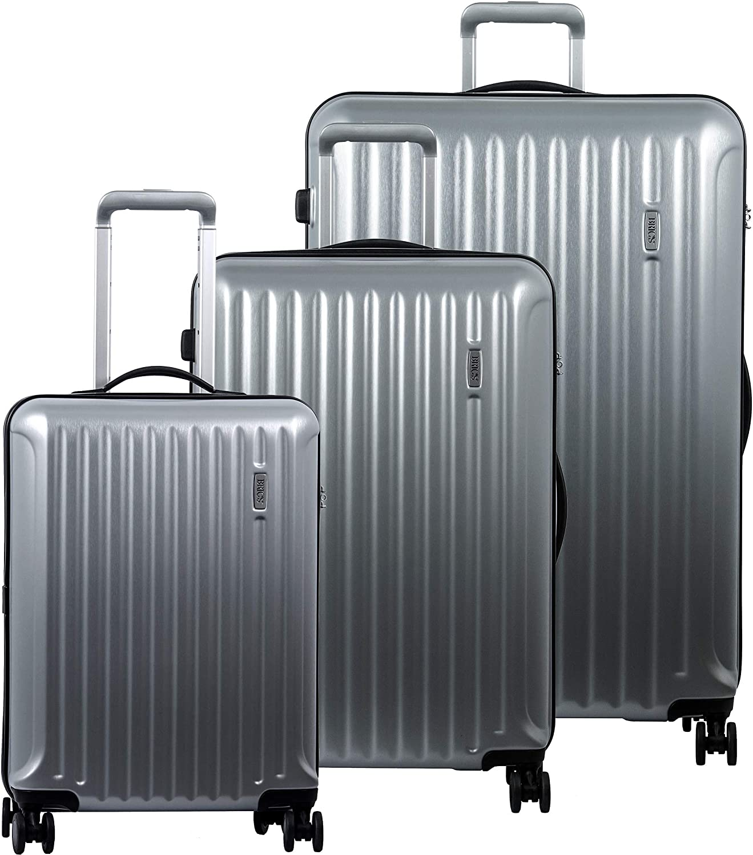Bric s Riccione 3-Piece Trolley Set 21 27 30 Brushed Silver