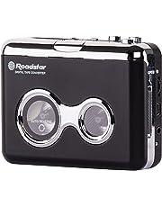 Roadstar PST-100ENC - Reproductor de casetes (3.5 mm, Negro, Plata,