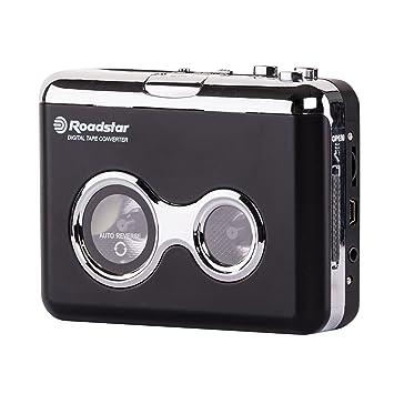 Roadstar PST-100ENC - Reproductor de casetes (3.5 mm, Negro, Plata, UM3, 175 g, 113 mm, 30 mm): Amazon.es: Electrónica