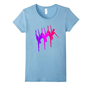 Women's Ballerina Dancer Ballet T-Shirt Small Baby Blue