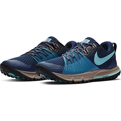 Nike Women s Air Zoom Wildhorse 4 Running Shoe Blue Void Aurora Green-Green  Abyss 1722025e4