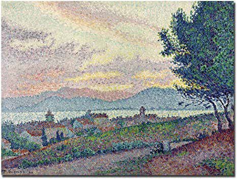 Amazon Com St Tropez Pinewood 1896 By Paul Signac 18x24 Inch Canvas Wall Art Prints Posters Prints