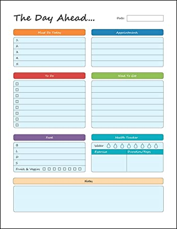 Daily Planner U2013 To Do Pad 8.5u201d X 11u201d Planning Pad U2013 Tear Off  Daily Planner Sheets