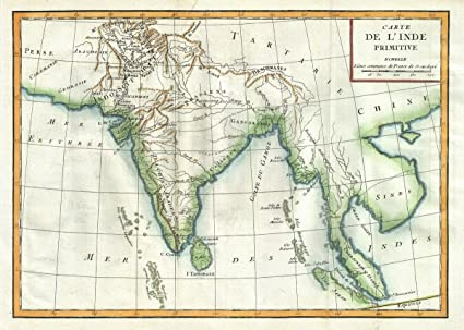 Amazon historical 1770 delisle de sales map of ancient india historical 1770 delisle de sales map of ancient india 18 x 24 fine art print gumiabroncs Images