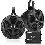 Waterproof Off-Road Speakers with Amplifier - 5.25 Inch 1000W 2-Channel Outdoor Marine Waketower Speakers Full Range for ATV