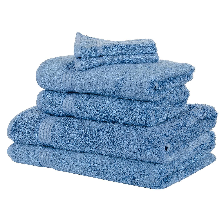 6 Piece Bamboo Bathroom Linen Face Cloth Hand Bath Sheet Towel Bale Set - Ivory Bamboo Bliss