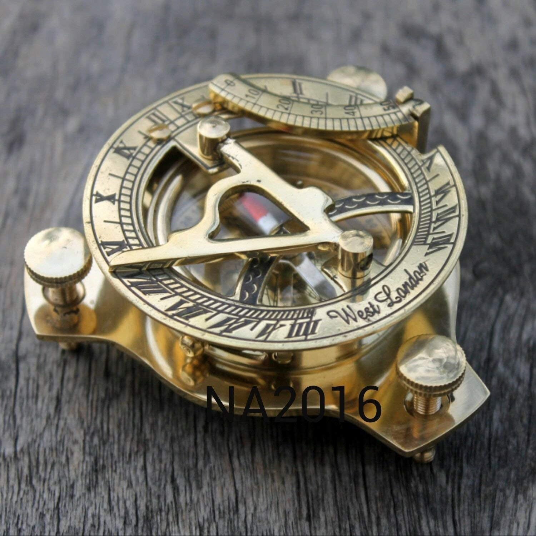 Brass compass Nautical Brass Sundial Compass Marine Vintage Compass Pocket Gift