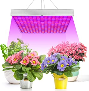 Exmate LED Grow Light for Indoor Plant, Panel Plant Light 45W UV IR with 225 LEDs Full Spectrum Growing Lamps for Greenhouse Vegetative Succulents Hydroponic Seedlings and Flowering(12.2x12.2inch)