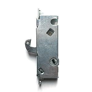Sliding Door Mortise Lock, 45° Keyway, 3-11/16 in. Spacing, Steel Replacement Latch Lock for Patio Doors, by Essential Values