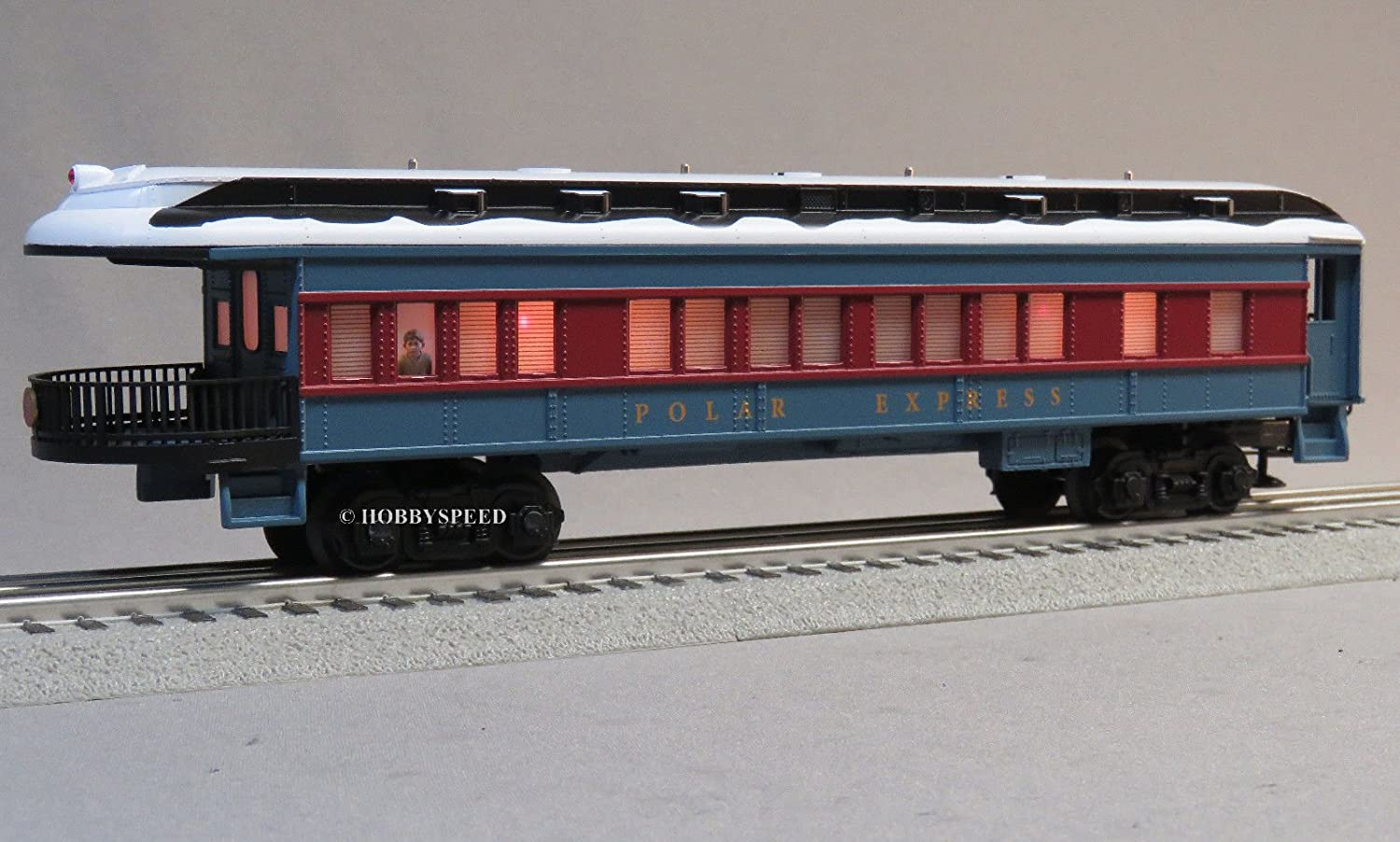 LIONEL POLAR EXPRESS OBSERVATION CAR w/SNOW ON ROOF Lionel Trains