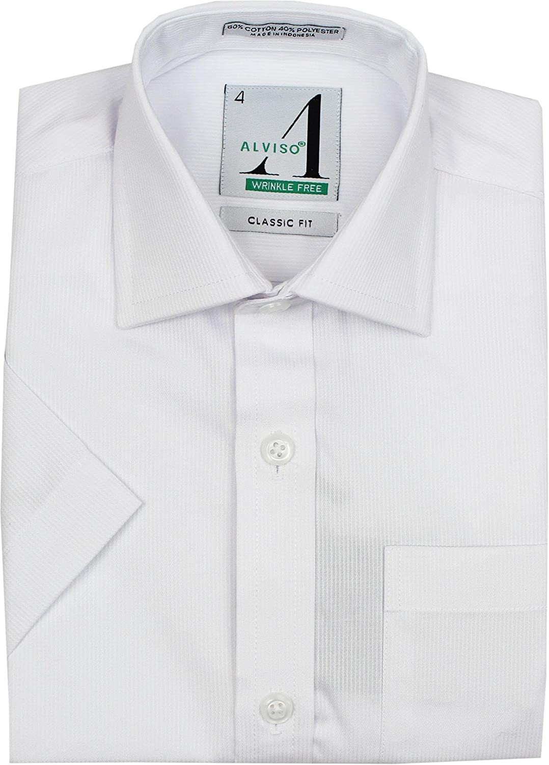 6152-BOSR Alviso Boys Textured Short Sleeve Dress Shirt