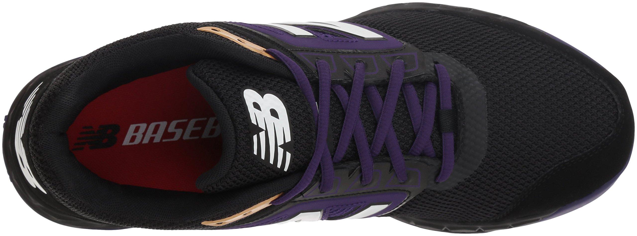 New Balance Men's 3000v4 Turf Baseball Shoe, Black/Purple, 5 D US by New Balance (Image #7)