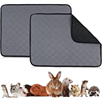 Guinea Pig Fleece Cage Liners,2PC Washable Pee Pads & Anti Slip Guinea Pig Bedding, Waterproof, Non-Slip,Super Absorbent…