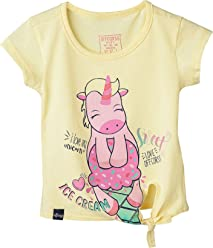 OFFCORSS Toddler Girl Stylish Colored Tshirts Camisetas De Niñas Franelas