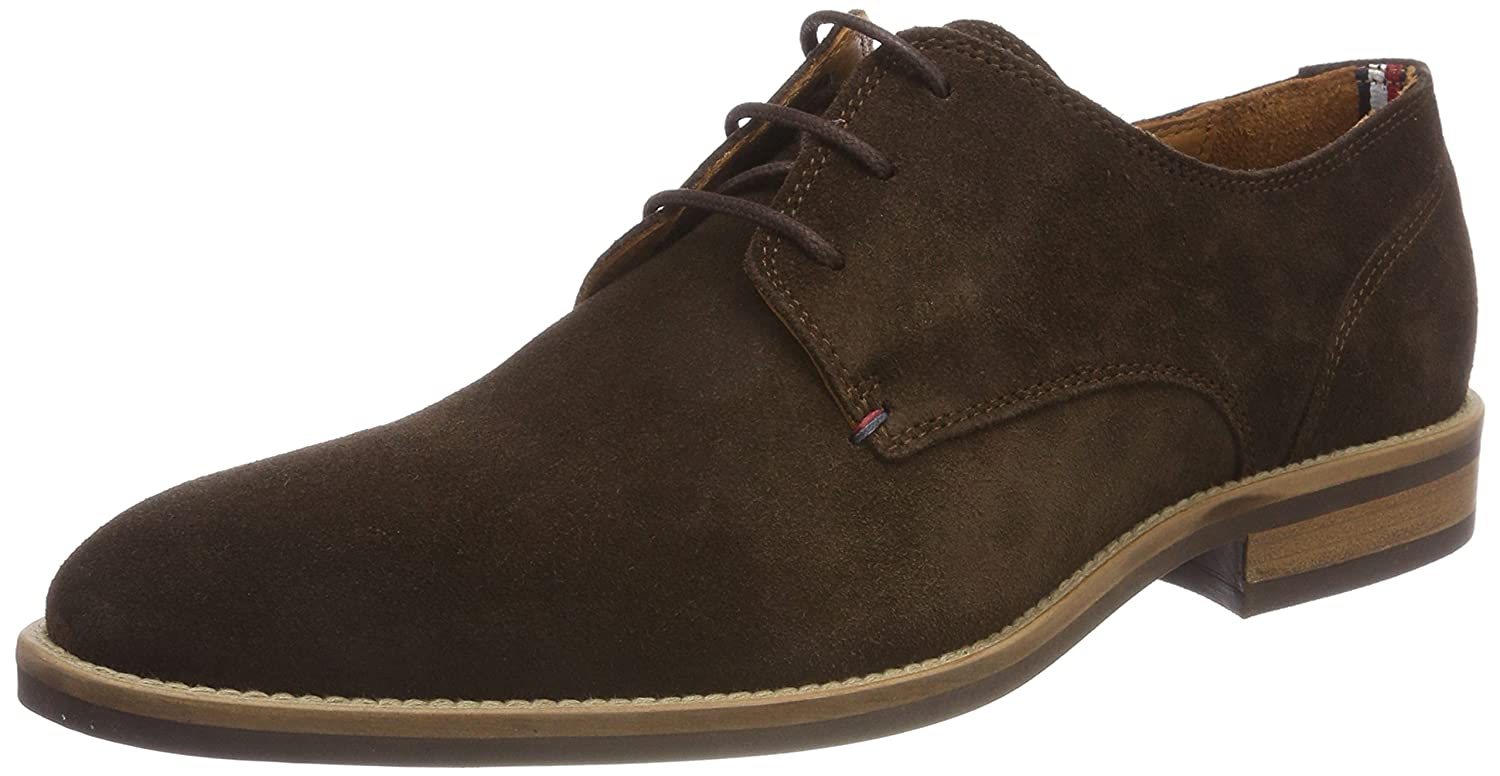 TALLA 40 EU. Tommy Hilfiger Essential Suede Lace Up Derby, Zapatos de Cordones Oxford para Hombre