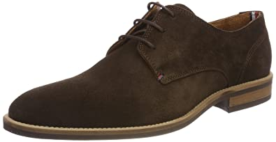 Tommy Hilfiger Men's Essential Suede Lace Up Derby Oxfords