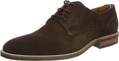 Tommy Hilfiger Essential Suede Lace Up Derby, Zapatos de Cordones Oxford Hombre