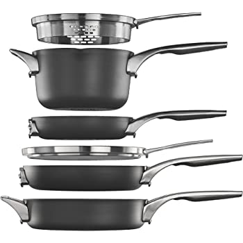 Amazon Com Calphalon Premier Space Saving Nonstick Fry