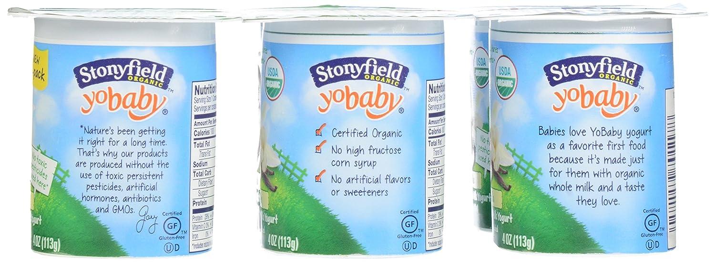 Stonyfield Organic, YoBaby Vanilla Whole Milk Yogurt, 4 oz, 6 Count: Amazon.com: Grocery & Gourmet Food