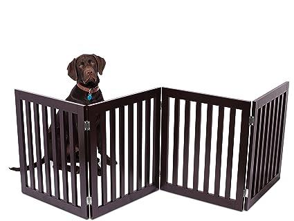 Amazon.com : Internet\'s Best Traditional Pet Gate   4 Panel   24 ...