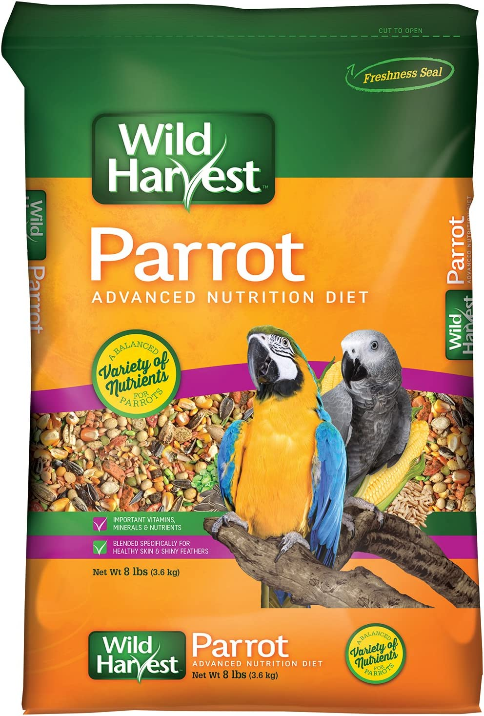 B000O3EE6Y Wild Harvest Advanced Nutrition Parrot 8 Pound Bag 81KNe0PccxL
