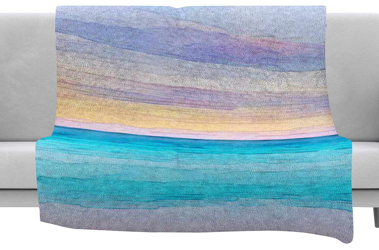 Kess InHouse Oriana Cordero Las Terrenas Blue Pink Throw 40 x 30 Fleece Blanket