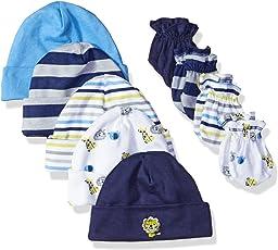 Gerber Baby - Pack de 5 gorras y 4 manoplas
