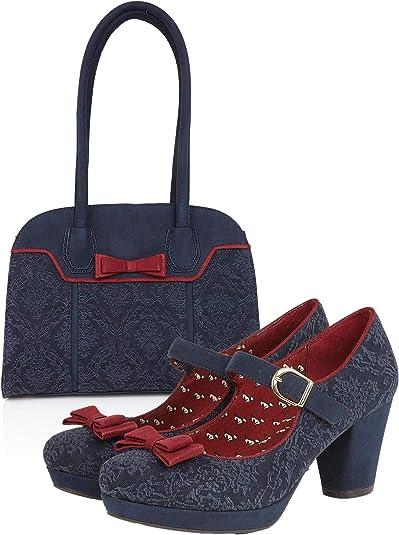 Ruby Shoo Camilla High Heel Mary Jane Shoes /& Matching Casablanca Bag UK 2-9
