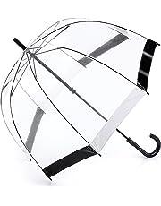 Fulton Parapluie Cannes, Black & WhiteTrim (Transparent) - L041 Black & White Trim