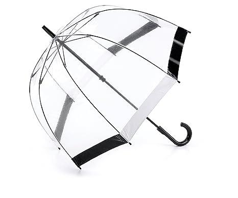 Fulton Birdcage - Paraguas Negro y el ajuste blanco