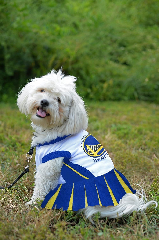 f3a2a0b4b9bd Amazon.com   Pets First NBA Golden State Warriors Dog Cheerleader Dress