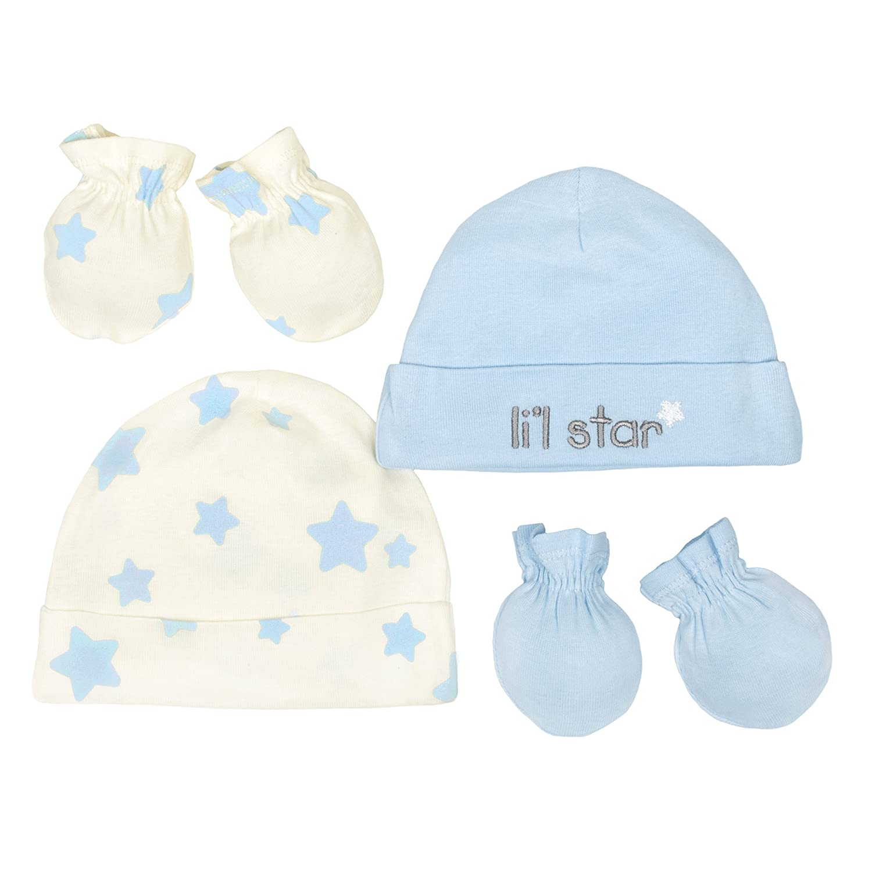 Gerber Baby Boys 3 Pack Organic Caps NEW Size Newborn Hats