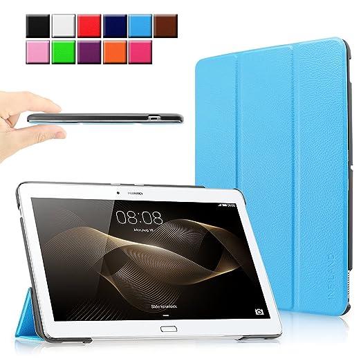 17 opinioni per Infiland Huawei MediaPad M2 (10 pollice) Tablet Custodia Case- Slim Tri-Fold in
