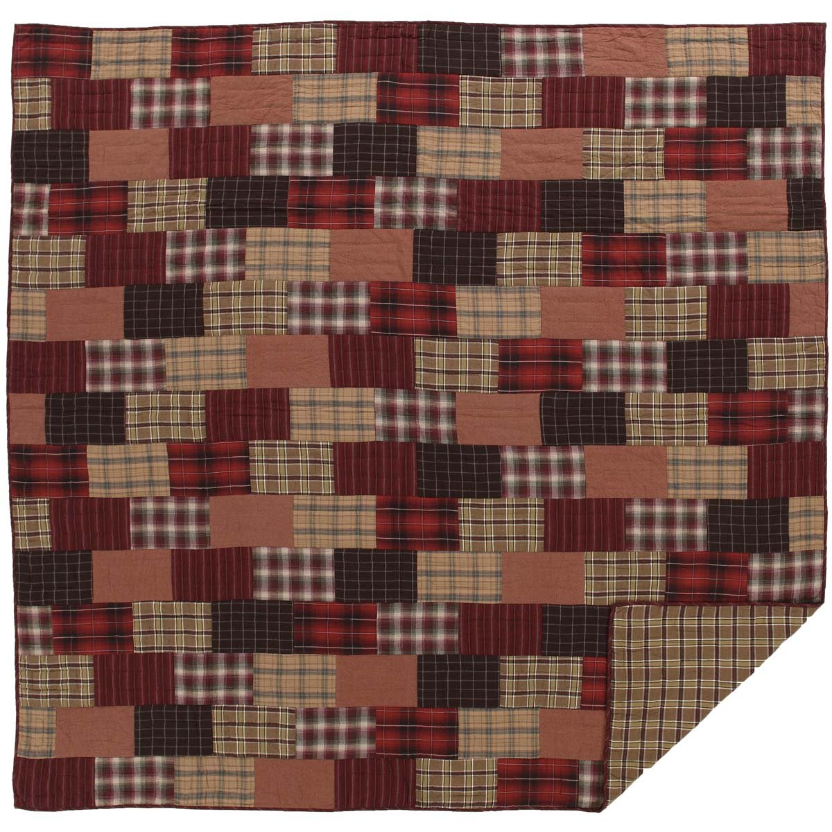 VHC Brands Rustic & Lodge Bedding - Wyatt Red Quilt, Queen, by VHC Brands (Image #1)