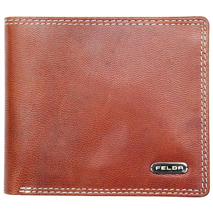 Felda - Cartera de cuero para hombre - Protección RFID, ranuras para billetes, tarjetas
