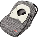 Skip Hop Stroll & Go Infant and Toddler Automotive Car Seat Cover Bunting Accessories, Universal Fit, Grey Feather