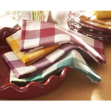 The Pioneer Woman 4 Piece Charming Check Napkins