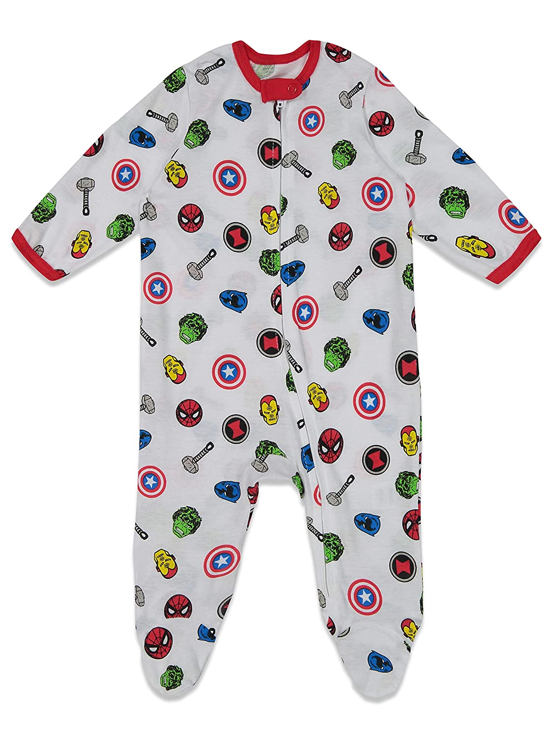 Marvel Avengers Baby Boys 2 Pack Sleep N Play Footies