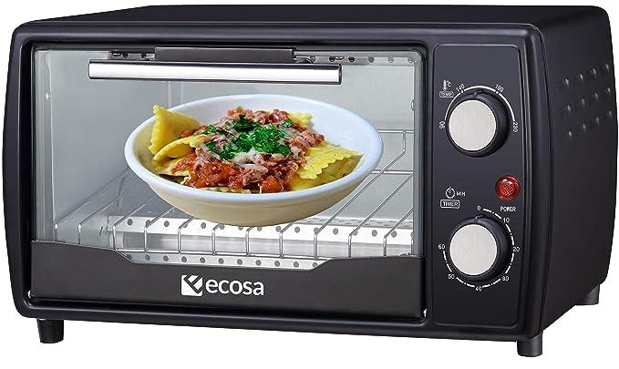 Mini horno de 1000 W, 10 litros, incluye bandeja de horno y ...