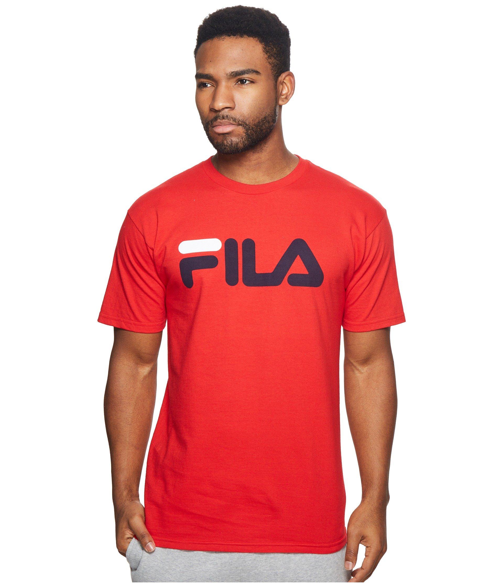 Fila Men's Logo Tee, Chinese Red, XX-Large
