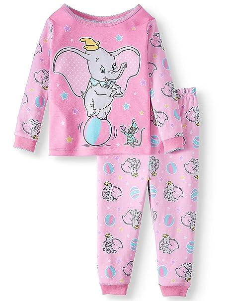 035047e92 Amazon.com  Disney Dumbo 2 Piece Baby Girls Sleepwear Pajama Set ...