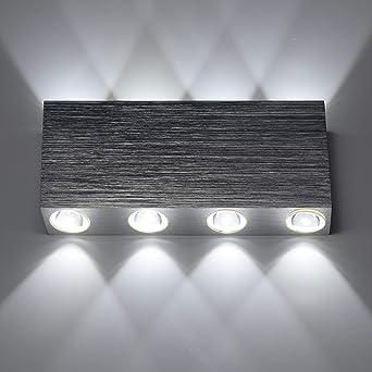 Design Couloir Mur Lampe Projecteur Salon Chambre Lampe de cuisine alu brossé