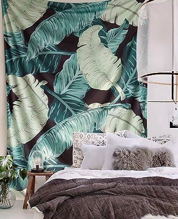 Amazoncom Banana Leaf Wall Tapestry Banana Tapestry Banana Leaf