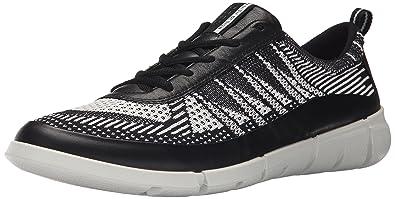 ECCO Men's Intrinsic Knit Sporty Lifestyle, Black/White, 40 EU/6-