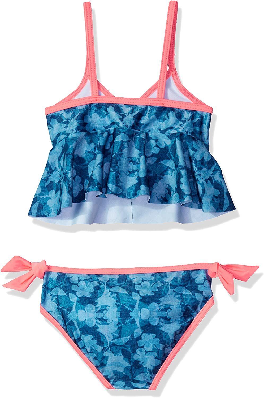 Jantzen Girls Denim Print Tankini Swimsuit Set