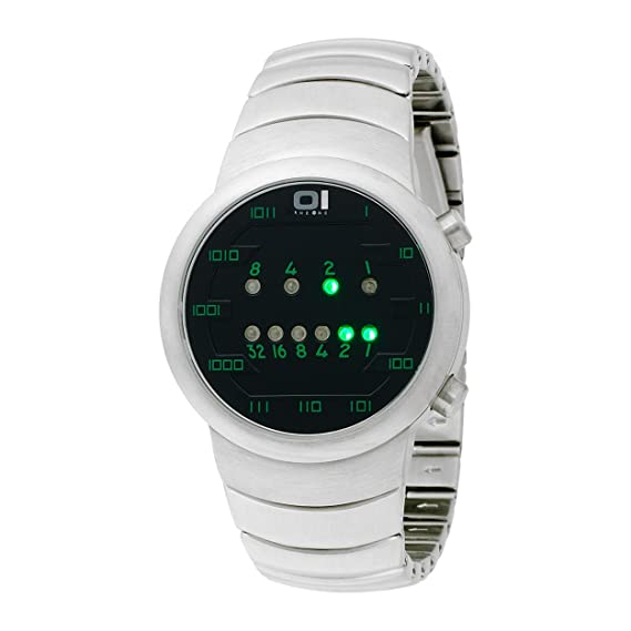 Binary THE ONE SAMUI MOON SM102G2 - Reloj digital de caballero de cuarzo con correa de acero inoxidable plateada - sumergible a 30 metros: Amazon.es: ...