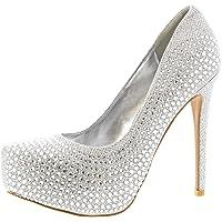 Mujer Stiletto Diamante Party Noche Alto Heel Plataformas