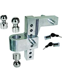 """Uriah Products UT625810 Silver 12.6 x 12 x 3.9 Aluma-Tow HD 8"""" Drop Ball Mount for 2-1/2"""" Receiver"""